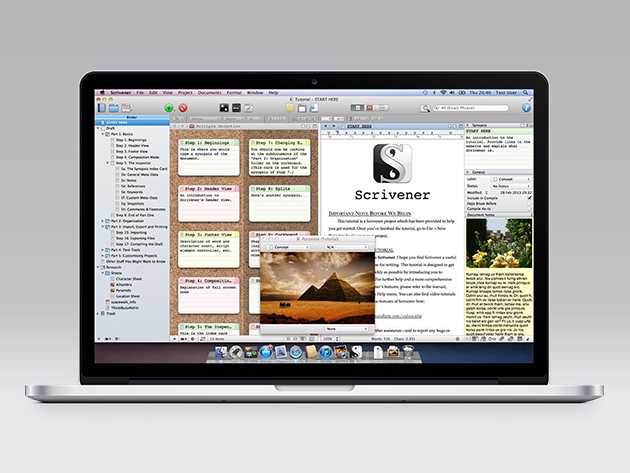 Scrivener 2 on a Macbook