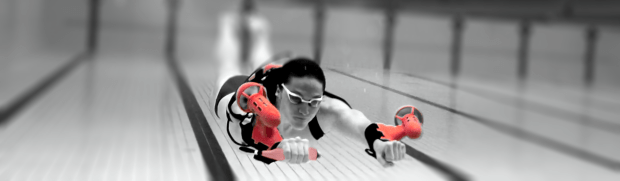 The x2 Sport underwater