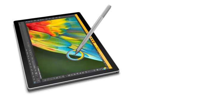 microsoft surface book detached screen with pen