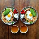 Man Crafts Beautiful Matching Breakfasts From Around the World for Himself and His Boyfriend