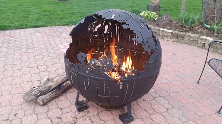 An Incredible Steel Star Wars Death Star Ii Fire Pit