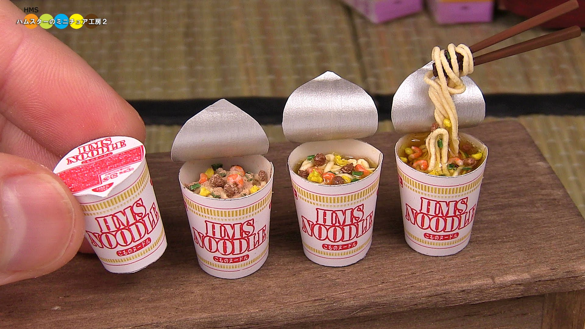 Cute Noodles Japanese Wallpaper Dollhouse Artist Demonstrates How To Make Wonderful
