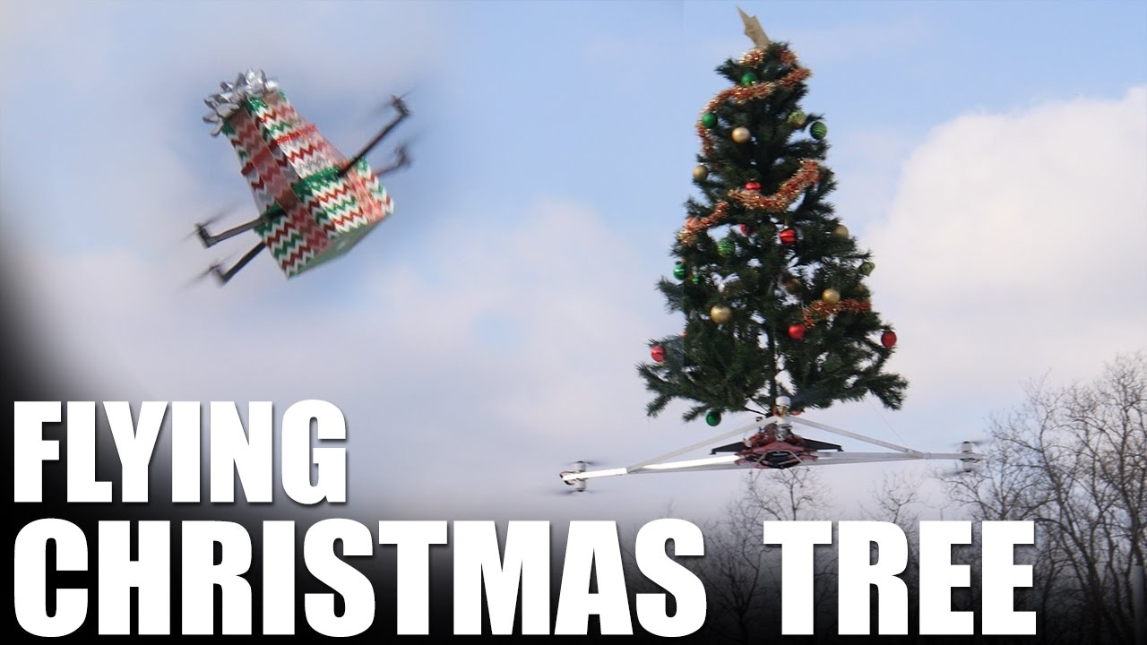Pantone Christmas Ornaments A Drone Mounted Flying Christmas Tree Takes To The Skies To Spread