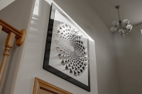 A Mind Bending 3D Optical Illusion Wall Art Made Using One ...
