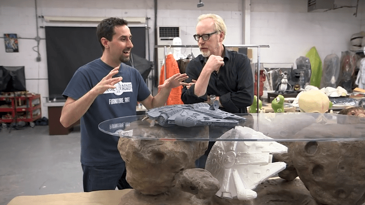 Adam Savage Tours Tom Spina39s Regal Robot Shop Filled With