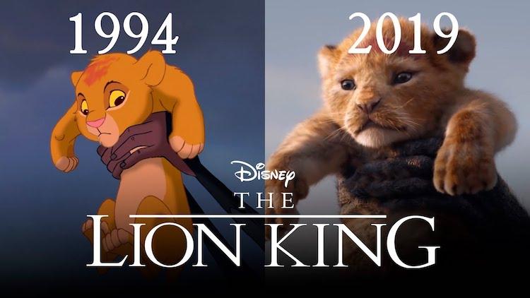 the lion king trailer 1994 vs 2019