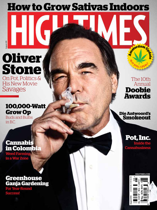 Oliver Stone toking it up