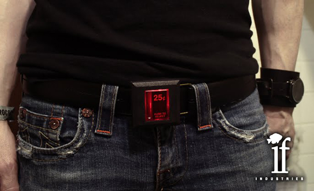 25 Cent Arcade Coin Slot Belt Buckle by Insignificant Fish Industries