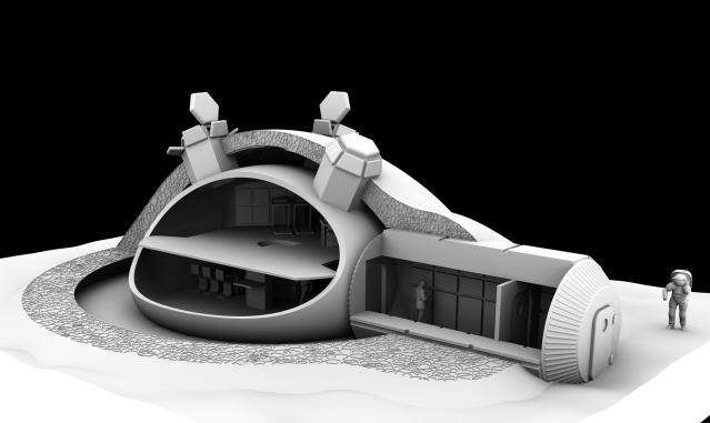 3D Printed Moon Base