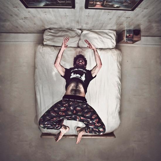 Odd self-portraits by Caulton Morris