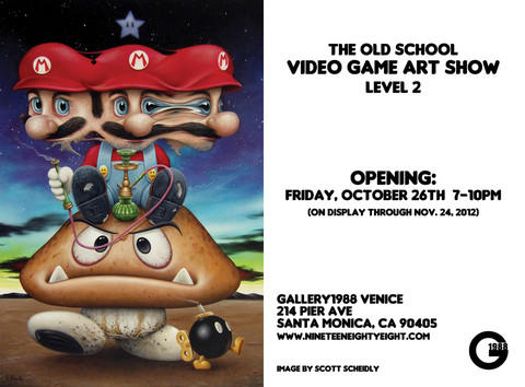 The Old School Video Game Art Show (Level 2) at Gallery1988