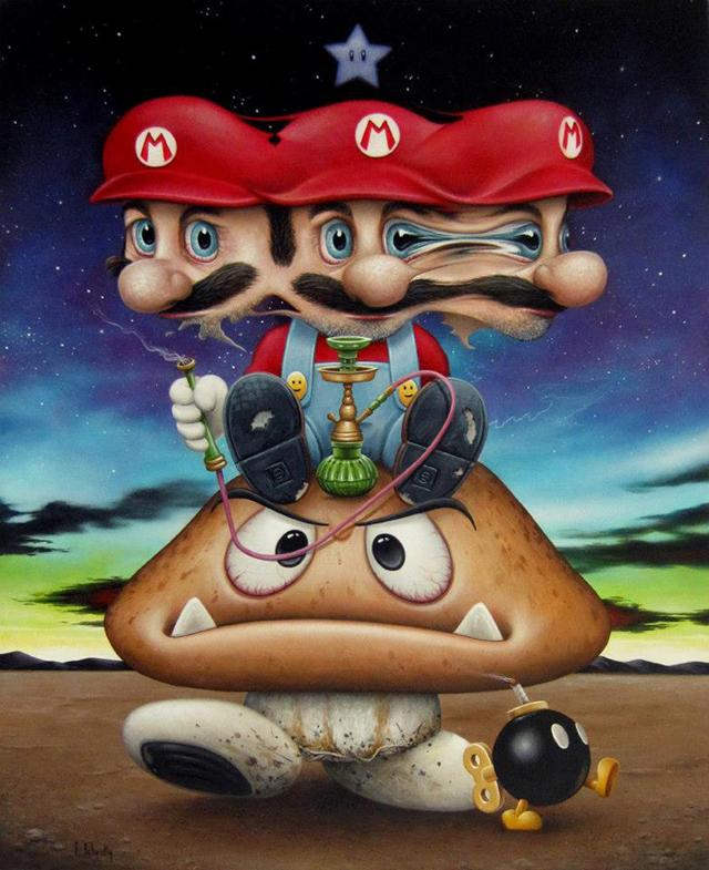 Mario Gets Bombed by Scott Scheidly