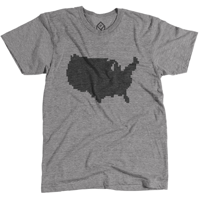 Pixelated United States of America Shirt by Pixelivery