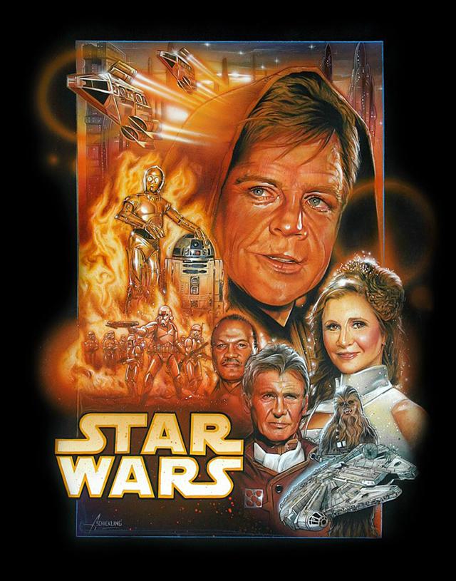 Star Wars Episode VII Fan Poster by Adam Schickling