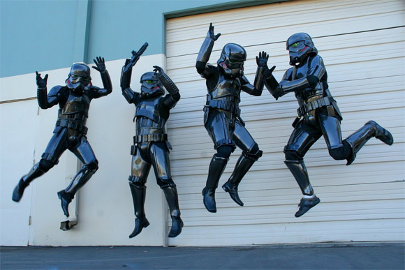 Carbon fiber Star Wars stormtroopers