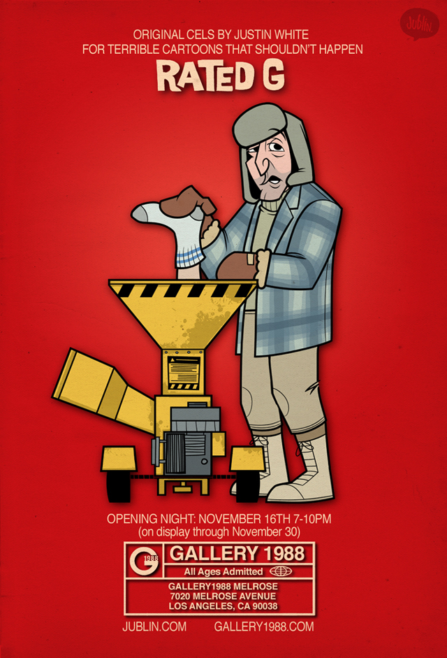 Rated G art show - Fargo by Justin White