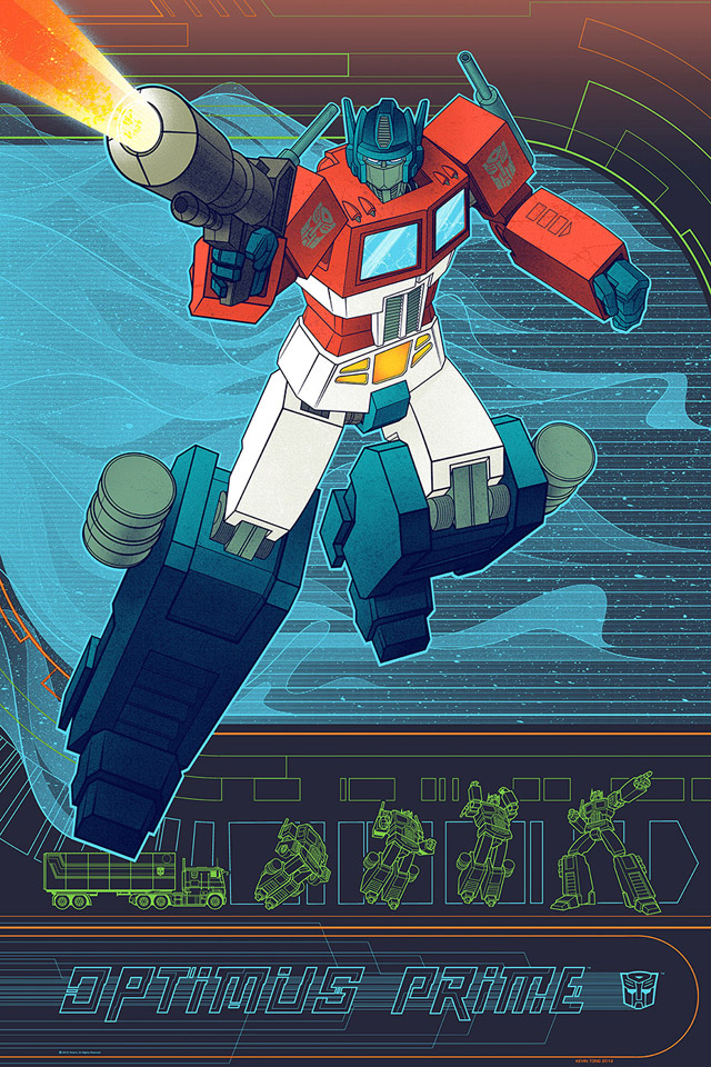 Optimus Prime Poster by Kevin Tong