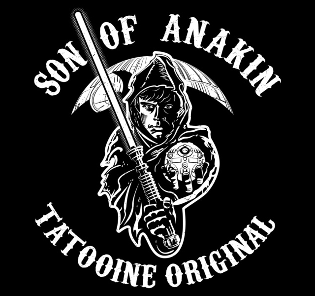 Jack Daniels Wallpaper For Iphone Son Of Anakin A Star Wars Meets Sons Of Anarchy Design