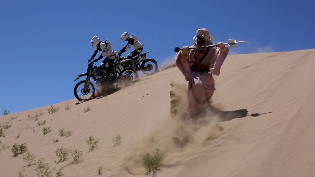 Stormtroopers on Dirt Bikes