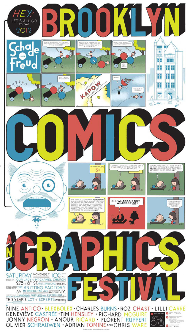 The Brooklyn Comics and Graphics Festival Poster by Chris Ware
