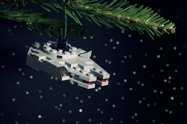 Millenium Falcon Ornament by Chris McVeigh