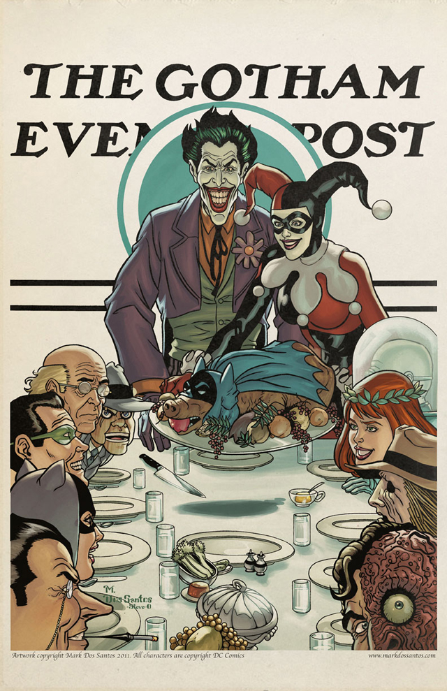 Gotham Evening Post (Thanksgiving) by Mark Dos Santos