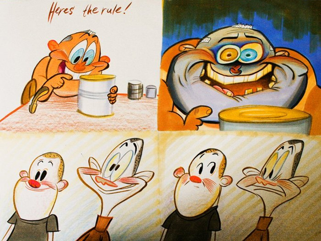 "George Liquor ""Cans Without Labels"" by John Kricfalusi"