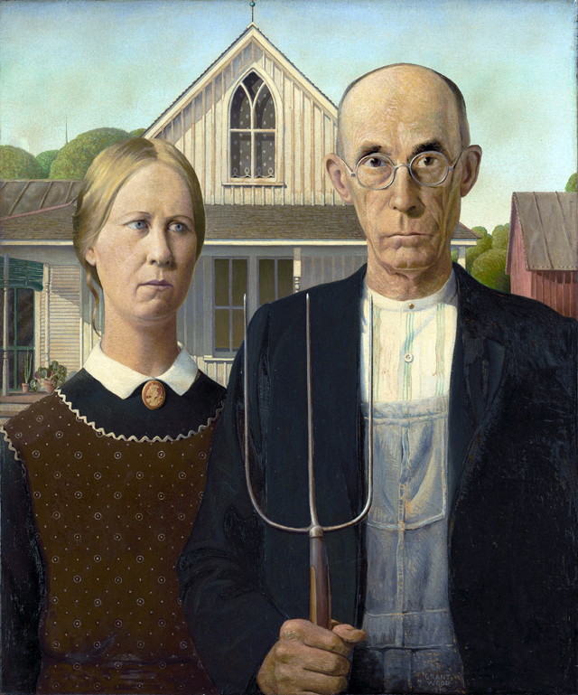 Original American Gothic (9130) by Grant Wood