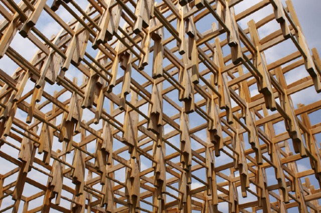 Seat sculpture of 400 chairs by eb office