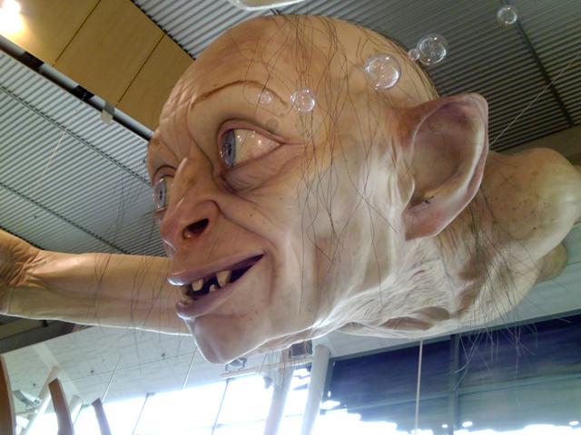 Gollum Sculpture by Weta Workshop at Wellington International Ariport