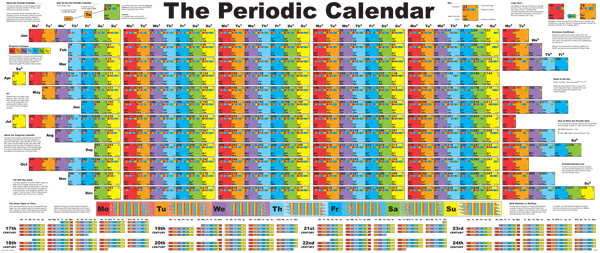 The Periodic Calendar by Joey Sellers
