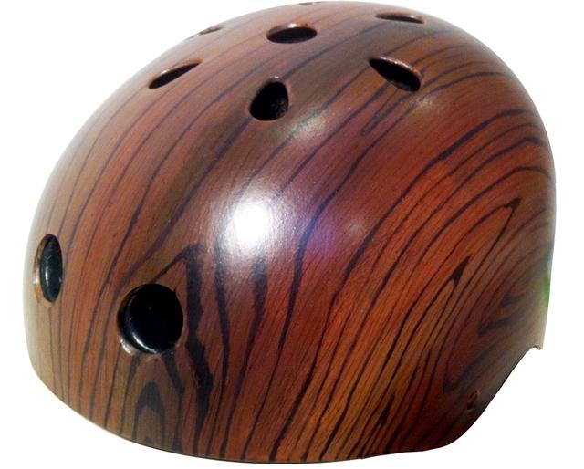 Mahogany Woodgrain by Belle Helmets
