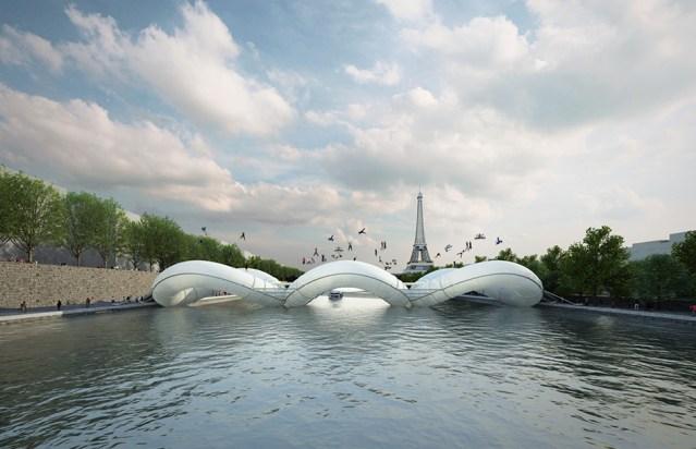 Trampoline bridge in paris by AZC
