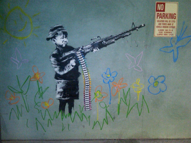 banksy-flower-gun