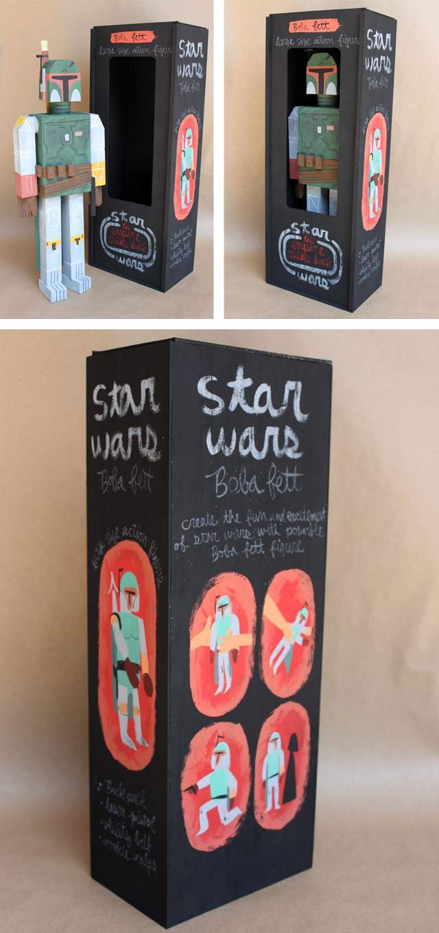Wooden Star Wars Action Figures by Amanda Visell