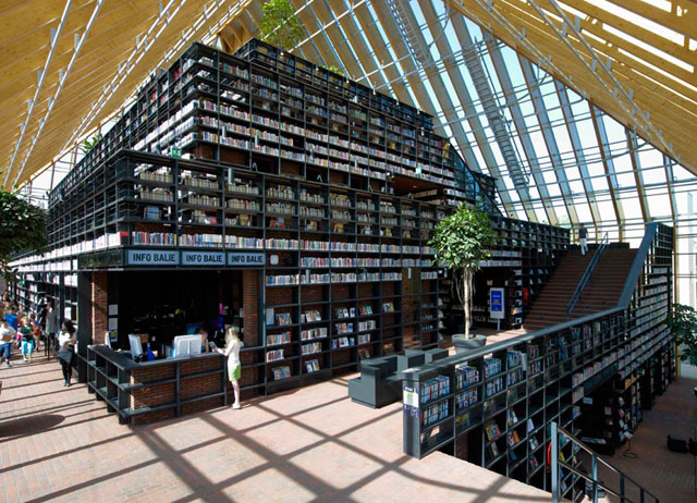 Book Mountain Dutch super library by MVRDV
