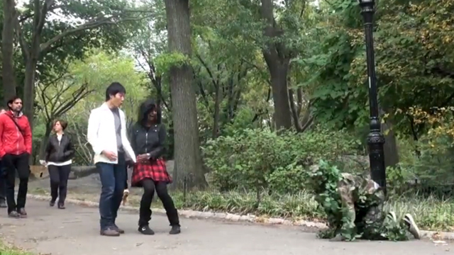The Bush Man In Central Park by Ed Bassmaster