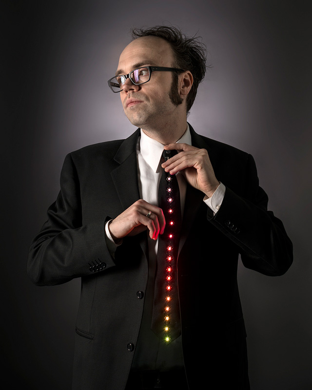 LED Ampli-Tie by Becky Stern