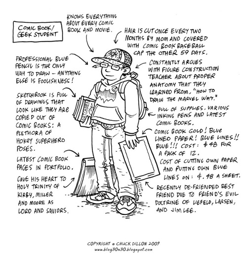 Comic Book Geek Student