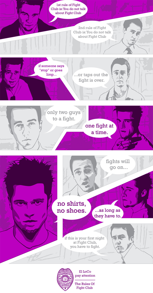 The Rules Of Fight Club by El LoCo