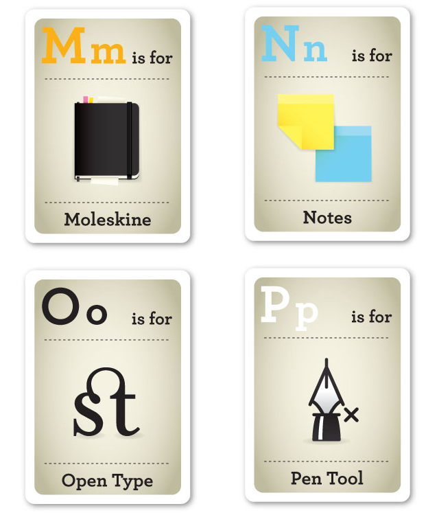 Design Nerd Flash Cards M-P by Emma Cook