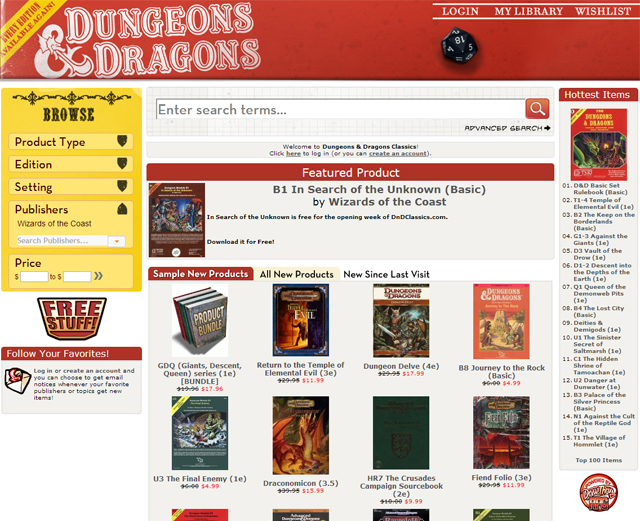 Dungeons & Dragons Archive