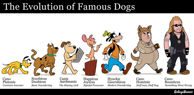 The Evolution of Famous Dogs