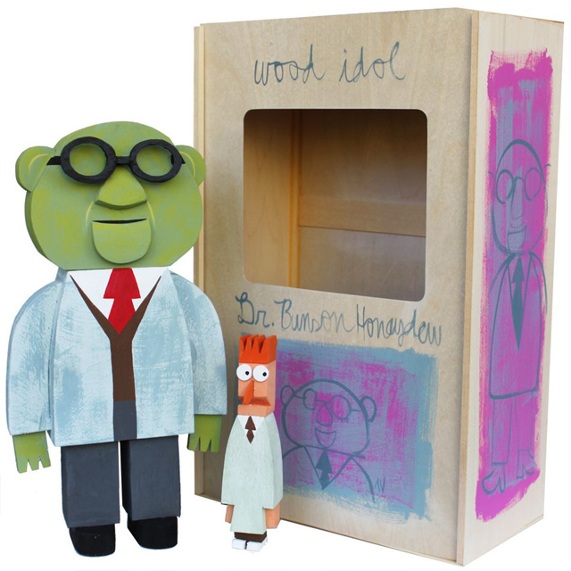 Dr Bunson Honeydew wood idol by Amanda Visell