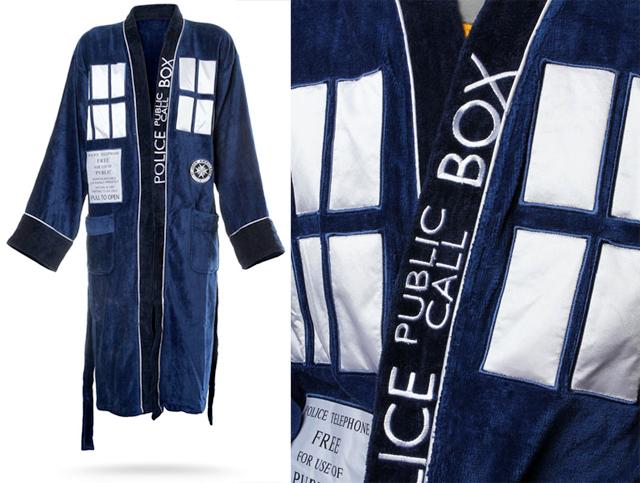 Doctor Who Themed Bathrobe - TARDIS