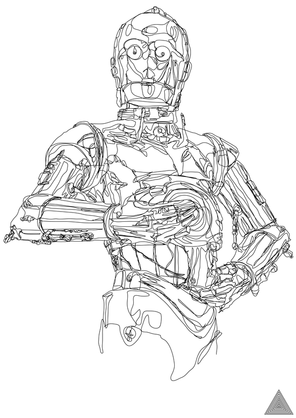 Star Wars Continuous Line Drawings - line drawing