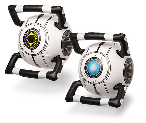 Portal 2 Inflatable Personality Cores at ThinkGeek