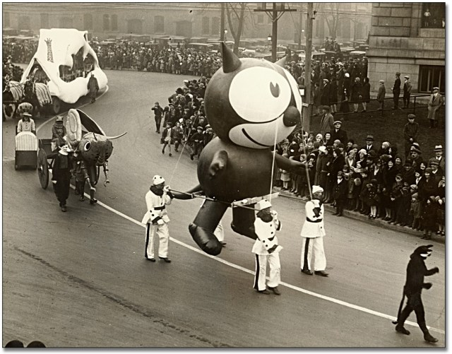 Felix the Cat on parade in the 1920s