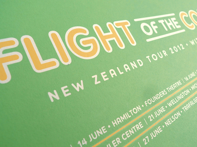 Flight of the Conchords New Zealand Tour Poster by DKNG Studios