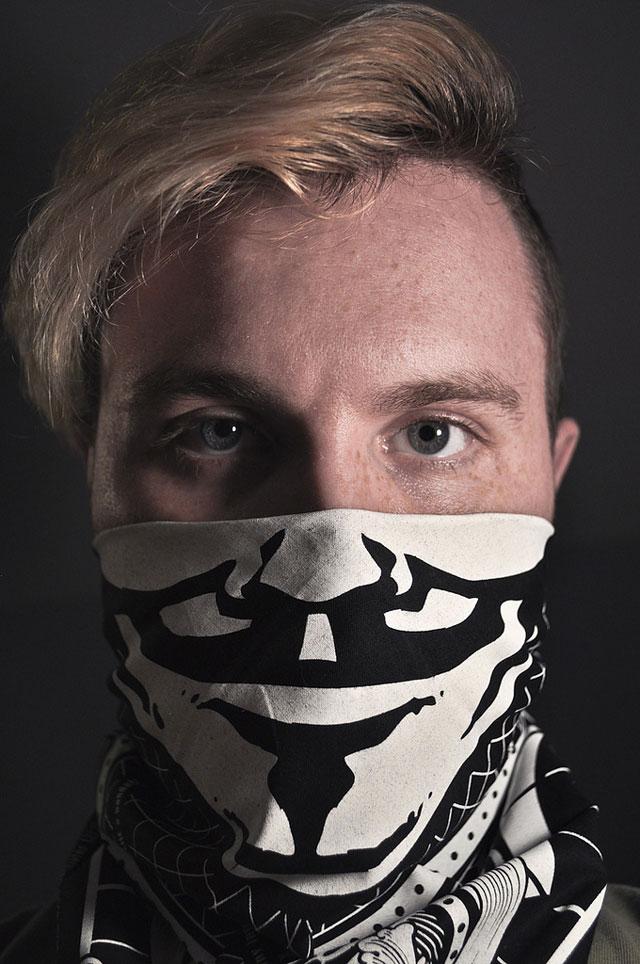 Guy Fawkes bandana for occupy protestors by Matthew Borgatti